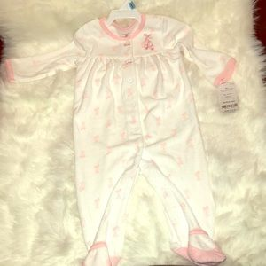Carter's Ballerina Slippers Pajamas Footed Terry